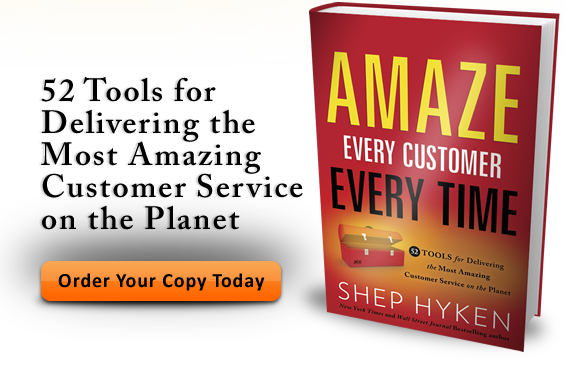 Order Shep Hyken's book Amaze Every Customer Every Time